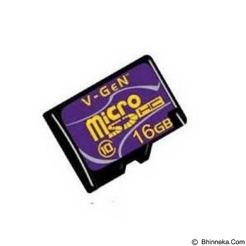 V-GEN Micro SD 16GB Class 10 Turbo + Adapter (Merchant) - Micro Secure Digital / Micro Sd Card