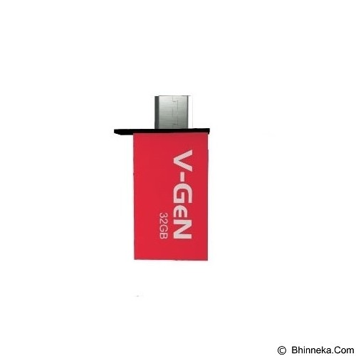 V-GEN OTG Flash Drive 32GB - Red (Merchant) - Usb Flash Disk Dual Drive / Otg