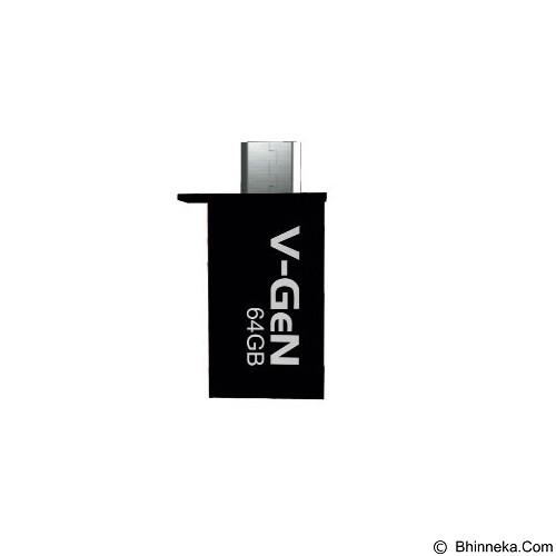 V-GEN OTG Flash Drive 64GB - Black (Merchant) - Usb Flash Disk Dual Drive / Otg