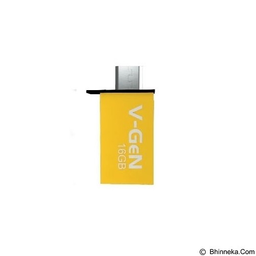 V-GEN OTG Flash Drive 8GB - Yellow (Merchant) - Usb Flash Disk Dual Drive / Otg