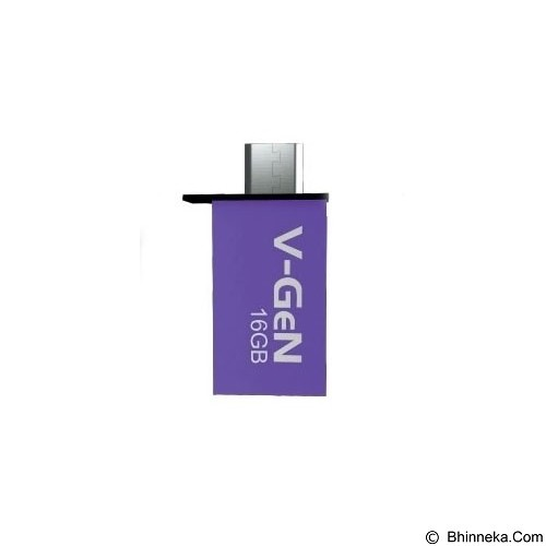 V-GEN OTG Flash Drive 16GB - Purple (Merchant) - Usb Flash Disk Dual Drive / Otg
