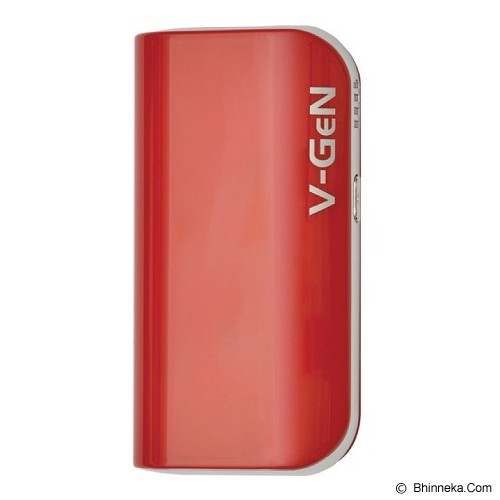 V-GEN Powerbank 5200mAh [v522] - Red - Portable Charger / Power Bank