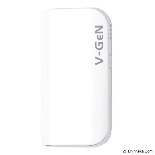 V-GEN Powerbank 5200mAh [v522] - White - Portable Charger / Power Bank
