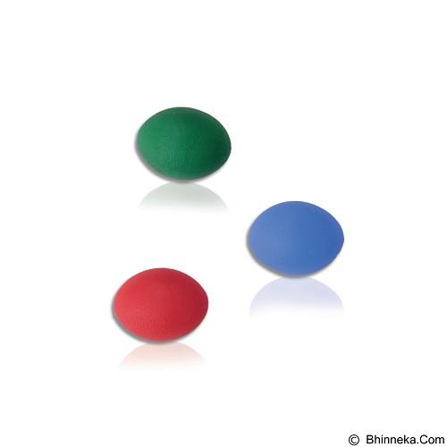 VARITEKS Silicone Silicone Hand Rehabilitation Ball - Blue [VAR560.Blue] (Merchant) - Alat Terapi Sendi