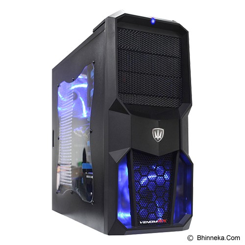 VENOM RX Middle Tower God Of wind Blue - Computer Case Middle Tower