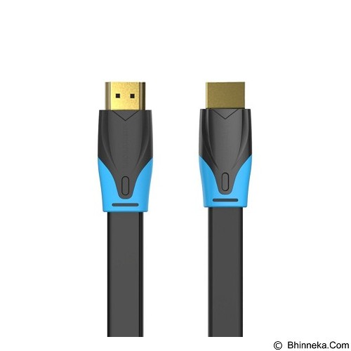 VENTION Kabel Flat HDMI v.1.4b Full HD 3D 2m [VAA-B02-B0200] (Merchant) - Cable / Connector HDMI
