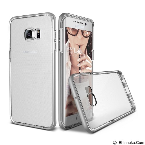 VERUS Case Crystal Bumper for Samsung Galaxy S6 edge Plus - Light Silver - Casing Handphone / Case