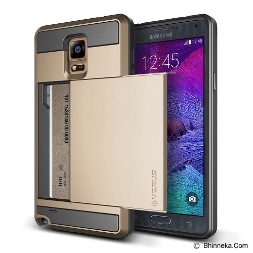 VERUS Damda Slide Samsung Galaxy Note 4 - Shine Gold - Casing Handphone / Case
