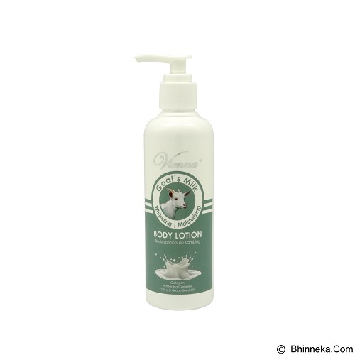 VIENNA Goat's Milk Whitening Body Lotion 200 ml (Merchant) - Body Lotion / Butter