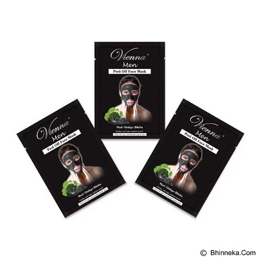 VIENNA Men Face Mask Peef Off Mud 15 ml 3 Sachet (Merchant) - Masker Wajah