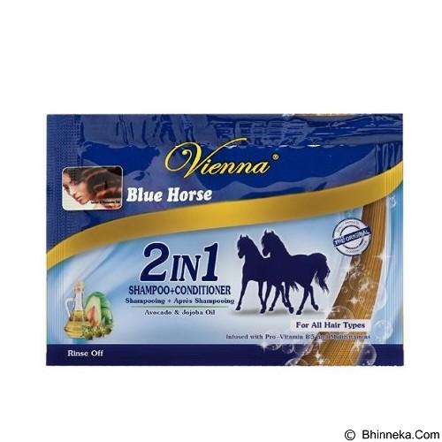 VIENNA Shampoo Conditioner Blue Horse 2in1 10ml Sachet (Merchant) - Shampoo