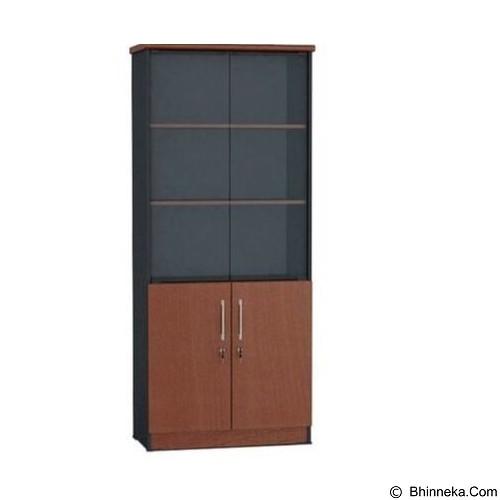 VIP Lemari Arsip Kayu Tinggi Pintu Kaca [BC 05] (Merchant) - Filing Cabinet / Lemari Arsip