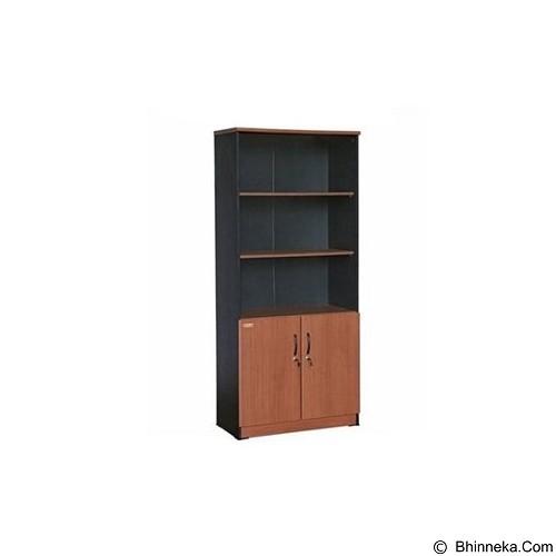 VIP Lemari Arsip Kayu Tinggi Pintu Kaca [BC 08] (Merchant) - Filing Cabinet / Lemari Arsip