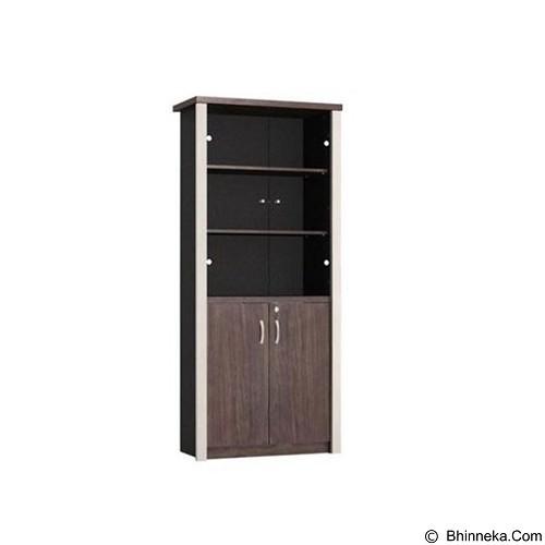 VIP Lemari Arsip Kayu Tinggi Pintu Kaca [BCM 05] (Merchant) - Filing Cabinet / Lemari Arsip
