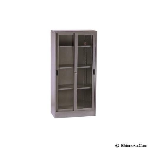VIP Lemari Arsip Tinggi Sliding Kaca [V 602] (Merchant) - Filing Cabinet / Lemari Arsip