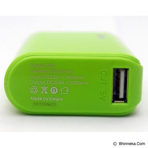 VISIPRO Powerbank CEB 5200mAh - Green - Portable Charger / Power Bank