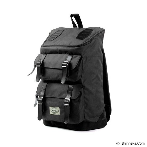 VISVAL Majestic - Black - Backpack Pria