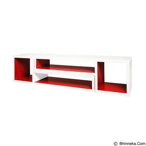 VITTORIO TV Stand Elle [PRD/0000000148] - Red White - Meja Tv