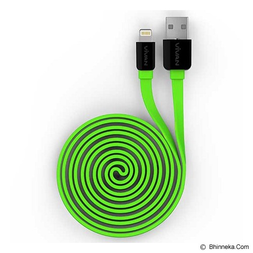 VIVAN Lightning Cable [YL100] - Green (Merchant) - Cable / Connector Usb
