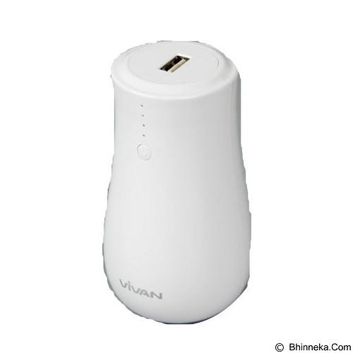 VIVAN Power Bank 6600mAh Mushroom LED Light [VPB-MP66] - White (Merchant) - Portable Charger / Power Bank