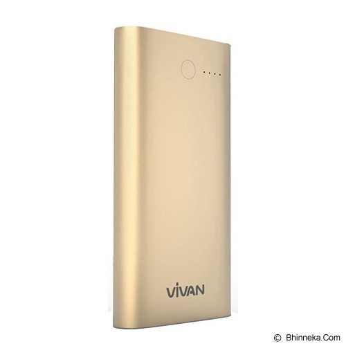 VIVAN Powerbank 10000mAh [C10] - Gold - Portable Charger / Power Bank