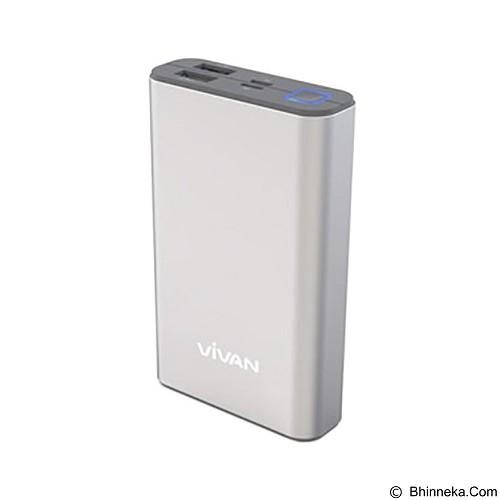 VIVAN Powerbank 10200mAh [M10] - Silver (Merchant) - Portable Charger / Power Bank