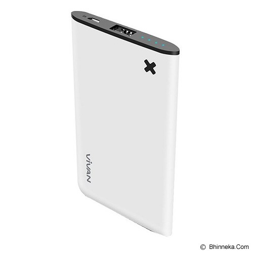 VIVAN Powerbank 4000mAh [B4] - White (Merchant) - Portable Charger / Power Bank