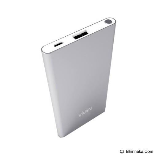 VIVAN Powerbank 5000mAh [B5] - Silver (Merchant) - Portable Charger / Power Bank