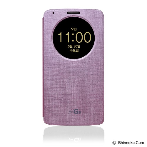 VOIA Quick Circle Case For LG G3 - Pink - Casing Handphone / Case