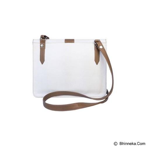 VONA Kin Clutch - White Brown (Merchant) - Clutches & Wristlets Wanita