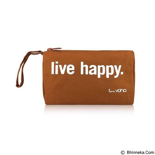 VONA Live Happy Travel Kosmetik Bag - Brown (Merchant) - Tas Kosmetik / Make Up Bag