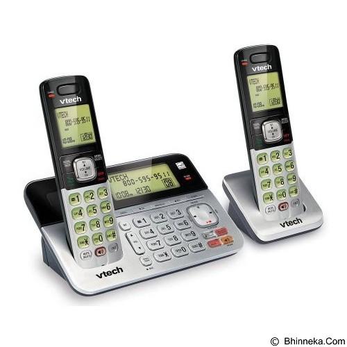 VTECH Cordless Phone [CS6859-2] - Silver Black - Wireless Phone