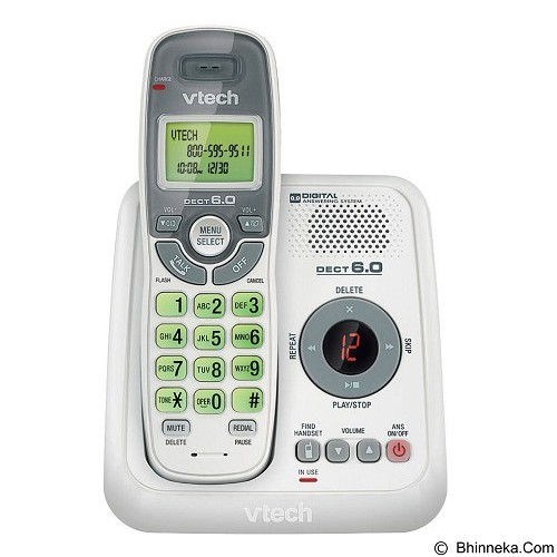 VTECH Cordless Phone with Caller ID/Call Waiting [CS6124] - White - Wireless Phone