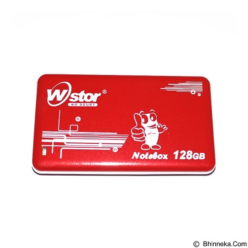 W-Stor Notebox SSD 128GB - Red (Merchant) - Hard Disk External 2.5 Inch