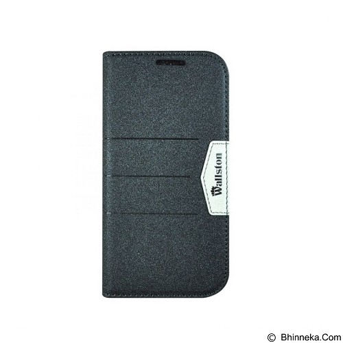 WALLSTON Beautiful Bright Leather Case for Andromax V - Black (Merchant) - Casing Handphone / Case