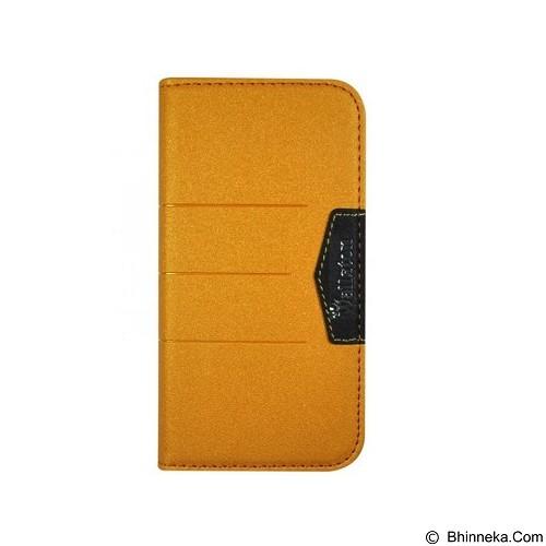 WALLSTON Beautiful Bright Leather Case for Apple iPhone 4G - Orange (Merchant) - Casing Handphone / Case