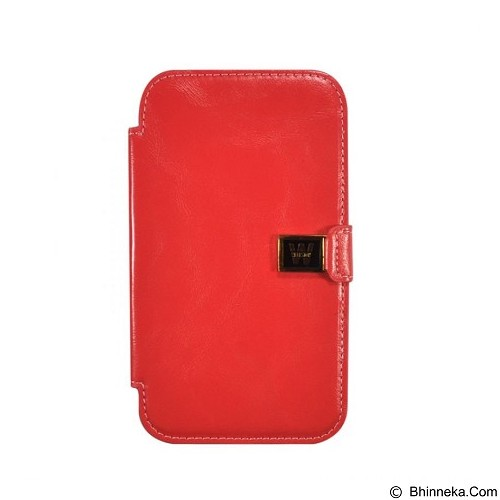 WALLSTON Crazy Leather Case for Samsung Galaxy Note 2 - Red (Merchant) - Casing Handphone / Case