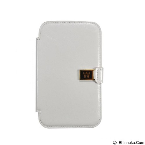 WALLSTON Crazy Leather Case for Samsung Galaxy Note 2 - White (Merchant) - Casing Handphone / Case