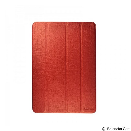 WALLSTON Leather Case Lasting Elegant for Apple iPad Air [LTLEIPAD5-WL09] - Red - Casing Tablet / Case