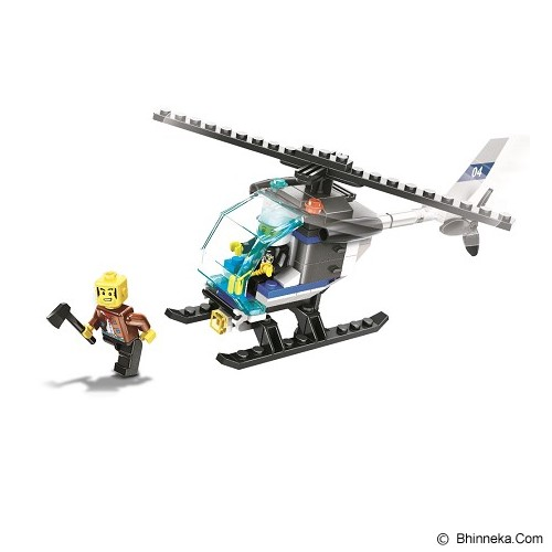 WANGE Bricks Police Helicopter [26017] - Building Set Transportation