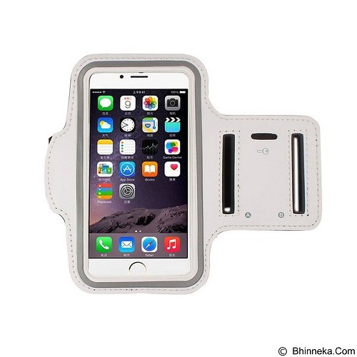 WANKY CELL Armband M Phone Running - White (Merchant) - Arm Band / Wrist Strap Handphone