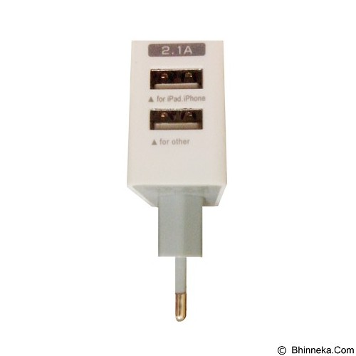 WANKY CELL Charger Ohla Micro USB/iPhone 5 2.1A - White - Universal Charger Kit
