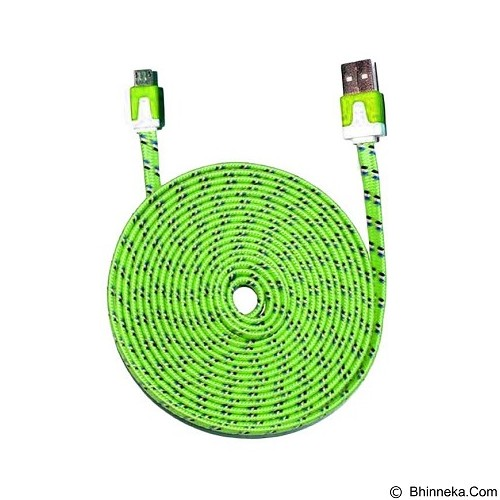 WANKY CELL Data Cable 3M Micro USB - Green - Cable / Connector Usb