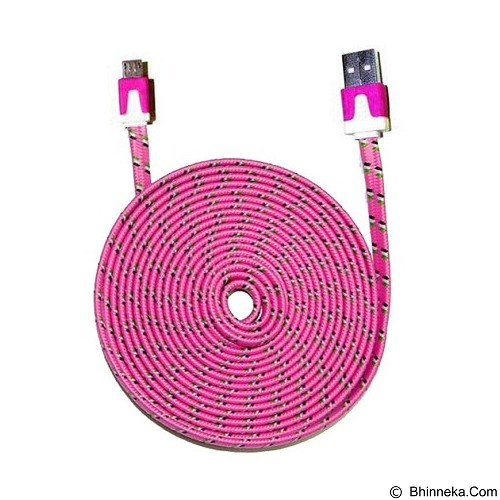 WANKY CELL Data Cable 3M Micro USB - Pink - Cable / Connector Usb