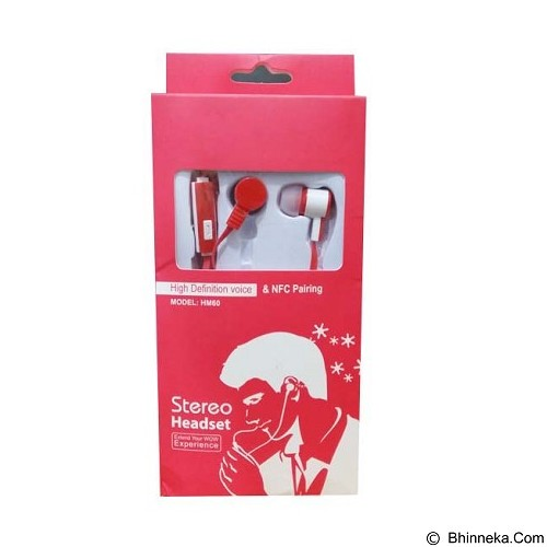 WANKY CELL Headset Stereo for Samsung [HM60] - Red - Earphone Ear Monitor / IEM