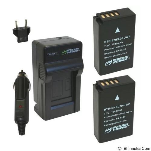 WASABI POWER Battery 2-Pack & Charger for Nikon EN-EL20 (Merchant) - On Camera Battery