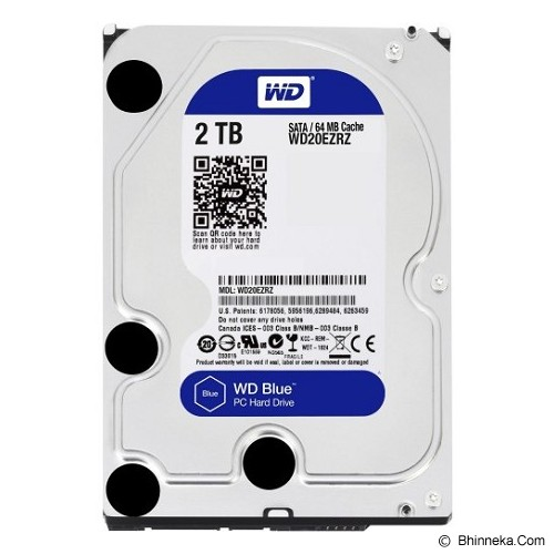 WD Blue 2TB [WD20EZRZ] - Hdd Internal Sata 3.5 Inch