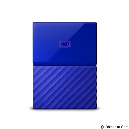 WD My Passport 1TB USB 3.0 2.5 Inch - Blue (Merchant) - Hard Disk External 2.5 Inch