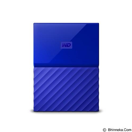 WD My Passport 1TB USB 3.0 2.5 Inch - Blue (Merchant) - Hard Disk External 2.5 Inch