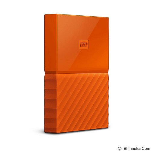WD My Passport 1TB USB 3.0 2.5 Inch - Orange (Merchant) - Hard Disk External 2.5 Inch